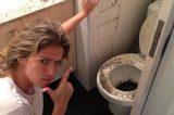 Fani reclama de incidente em seu banheiro: 'Chuva de esgoto'