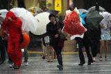 """""""Alerta especial"""" em várias regiões do Japão na passagem do tufão Man-yi"""