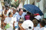 Bezerra Coelho sobe o Morro da Conceição ao lado de Geraldo Júlio