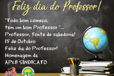 APLB Juazeiro deseja feliz Dia do Professor