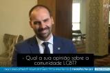 Eduardo Bolsonaro compara relacionamentos LGBT à amizade entre homem e cachorro