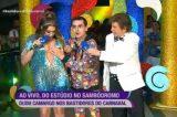 """Vídeo: Dudu Camargo, """"afilhado"""" de Silvio Santos, assedia Simony ao vivo"""