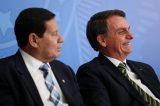 """Mourão diz que Bolsonaro não muda: """"Não adianta. Ele tem 65 anos"""""""