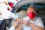 Ex-presidente Lula é imunizado com a 2° dose da 'CoronaVac'