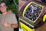 Filho de Faustão usa relógio de bronze que custa R$ 1,1 milhão