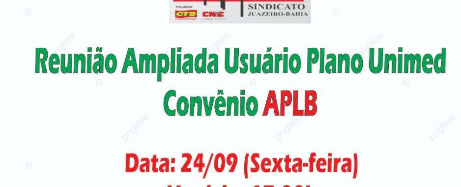 APLB-Sindicato convoca professores detentores do plano Unimed para uma live nesta sexta